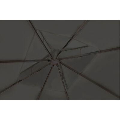 vidaXL Шатра с покрив, 3х3 м, тъмносива