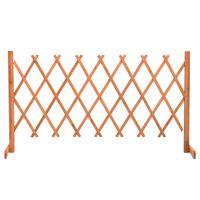 vidaXL Градинска оградна решетка, оранжева, 150x80 см, чам масив