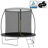 vidaXL Комплект батут, кръгъл, 244x55 см, 100 кг