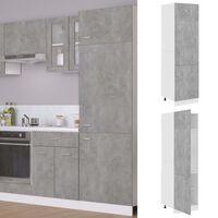 vidaXL Шкаф за хладилник, бетонно сив, 60x57x207 см, ПДЧ