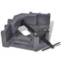 vidaXL Ръчно задвижвано ъглово менгеме за пробиване, 115 мм