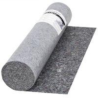 vidaXL Неплъзгащо се бояджийско покривало, 50 м, 280 г/м², сиво