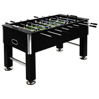 vidaXL Футболна маса, стомана, 60 кг, 140x74,5x87,5 см, черна