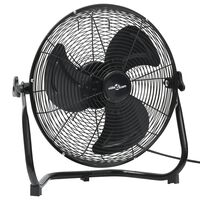 vidaXL Наземен вентилатор, 3 скорости, 45 см, 60 W, черен