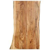 vidaXL Плот за маса, акациево дърво масив, 100x(50-60)x2,5 cм