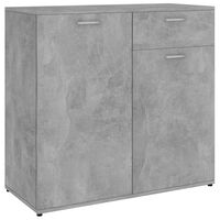 vidaXL Бюфет, бетонно сив, 80x36x75 см, ПДЧ
