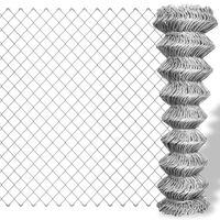 vidaXL Плетена оградна мрежа поцинкована стомана 15x1,5 м сребриста