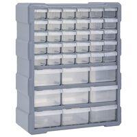 vidaXL Шкаф органайзер с 39 чекмеджета, 38x16x47 см