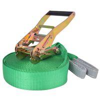 vidaXL Слаклайн, 15 м х 50 мм, 150 кг зелен