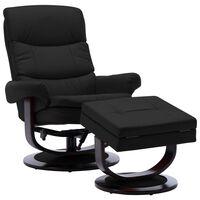 vidaXL Наклоняем стол, черен, изкуствена кожа и извито дърво