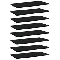 vidaXL Рафтове за етажерка, 8 бр, черни, 60x30x1,5 см, ПДЧ