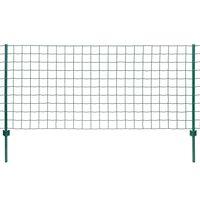 vidaXL Евромрежа, стомана, 20x0,8 м, зелена