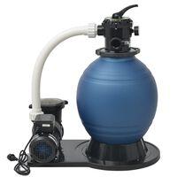 vidaXL Пясъчна филтърна помпа, 1000 W, 16800 л/ч, XL