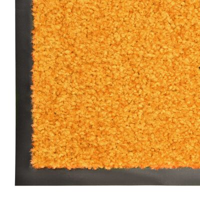 vidaXL Перима изтривалка, оранжева, 90x150 см
