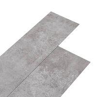vidaXL PVC подови дъски 5,02 м² 2 мм самозалепващи земно сиво