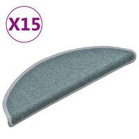 vidaXL Постелки за стъпала, 15 бр, сини, 56x17x3 см