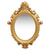 vidaXL Стенно огледало, стил замък, 56x76 см, златисто