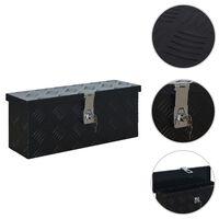 vidaXL Алуминиева кутия, 485x140x200 мм, черна