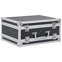 vidaXL Куфар за пистолет, алуминий, ABS, черен