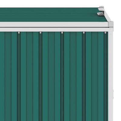 vidaXL Троен навес за кофи за боклук зелен 213x81x121 см стомана