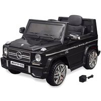 vidaXL Детски акумулаторен джип Mercedes Benz G65, 2 мотора, черен