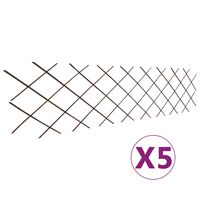 vidaXL Върбови огради хармоника, 5 бр, 180x60 см