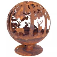 Esschert Design  Преносима камина, 57.5х57.5х66 см, ръждив цвят, FF261