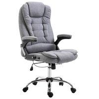 vidaXL Офис стол, сив, полиестер