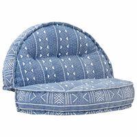 vidaXL Пуф, 100x20 см, индиго, текстил