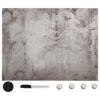 vidaXL Магнитна дъска за стенен монтаж, стъкло, 80x60 см