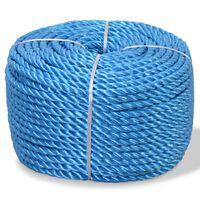 vidaXL Усукано въже, полипропилен, 16 мм, 100 м, синьо