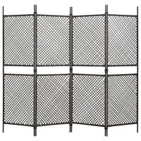 vidaXL Панел за огради, полиратан, 2,4x2 м, кафяв