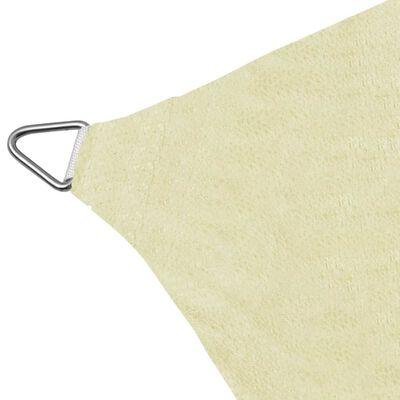 vidaXL Платно-сенник, HDPE, правоъгълно, 4x6 м, кремаво