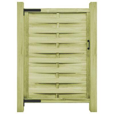 vidaXL Градинска порта, импрегниран бор, 100x175 см, зелена