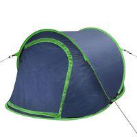 vidaXL Pop up къмпинг палатка за 2 души нейви/зелено