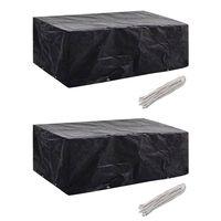 vidaXL Калъфи за градински мебели, 2 бр, 8 капси, 200x160x70 см