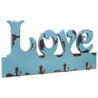 vidaXL Стенна закачалка за палта LOVE, 50x23 см
