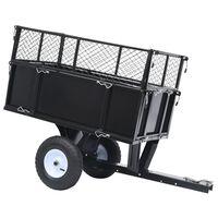 vidaXL Ремарке за трактор за косене, за товар от 150 кг