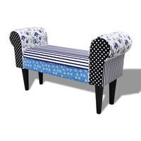 Елегантна кушетка в бяло & синьо