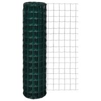 vidaXL Оградна мрежа, стомана, 10 x 1,5 м, зелена