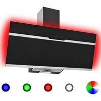 vidaXL RGB абсорбатор, LED, 90 см, инокс и закалено стъкло
