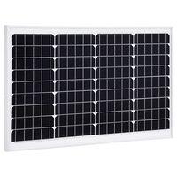 vidaXL Соларен панел, 40 W, монокристален алуминий и защитно стъкло