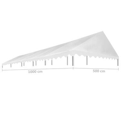 vidaXL Покривало за парти шатра, 5x10 м, бяло, 450 гр/м²