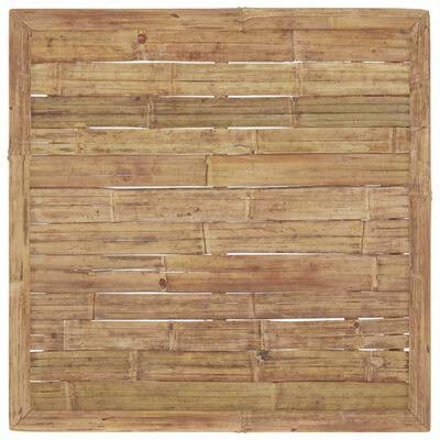 vidaXL Градински лаундж комплект тъмносиви възглавници 9 части бамбук