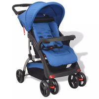 vidaXL Бебешка количка тип бъги, синя, 102x52x100 см