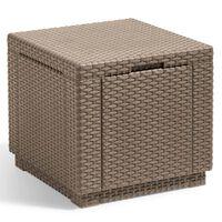 Allibert Кубична табуретка за съхранение, капучино, 228749