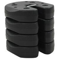 vidaXL Тежести за укрепване на шатри, 4 бр, черни, 220x30 мм, бетон
