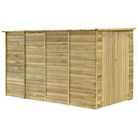 vidaXL Градинска барака, 315x159x178 см, импрегнирана борова дървесина