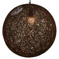 vidaXL Пендел, кафяв, сферичен, 45 см, Е27