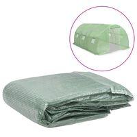 vidaXL Резервно покривало за парник (13,5 м²), 300x450x200 см, зелено